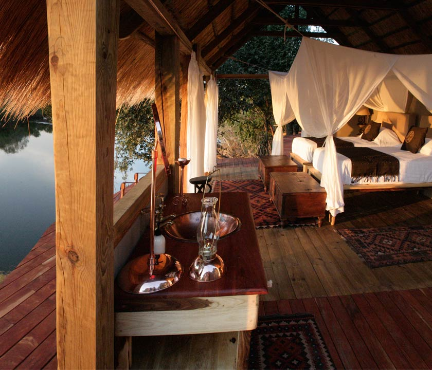 Sindabezi Lodge is on Sindabezi Island, on the Zambezi River