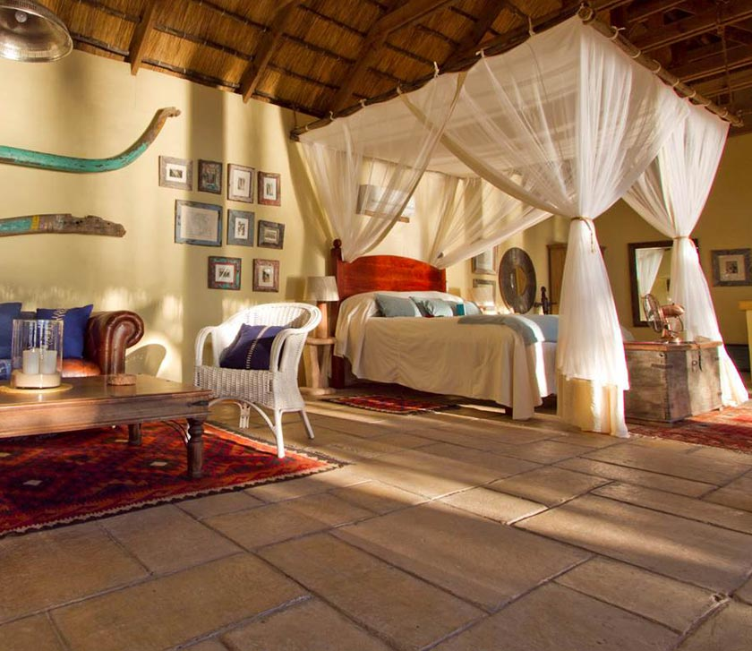 Tongabezi Lodge is situated on the Zambezi River
