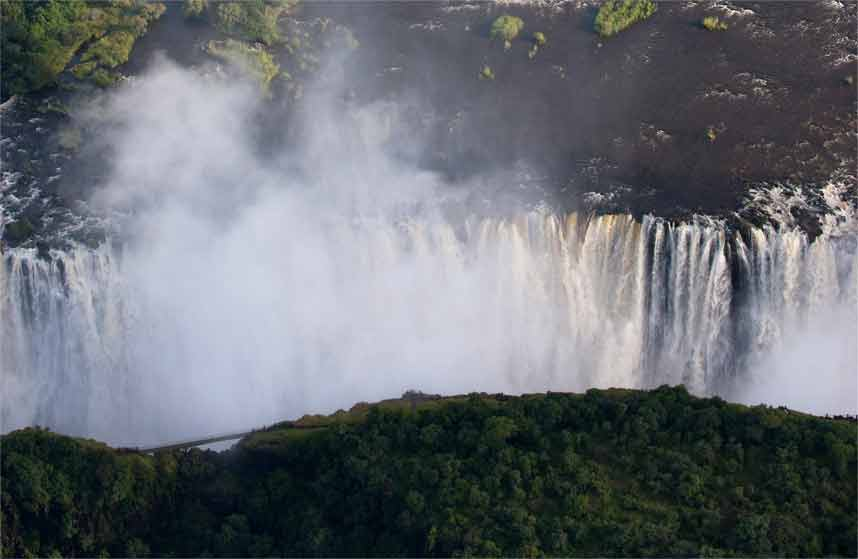 Devil's Pool is located alongside Livingstone Island on top of Victoria Falls